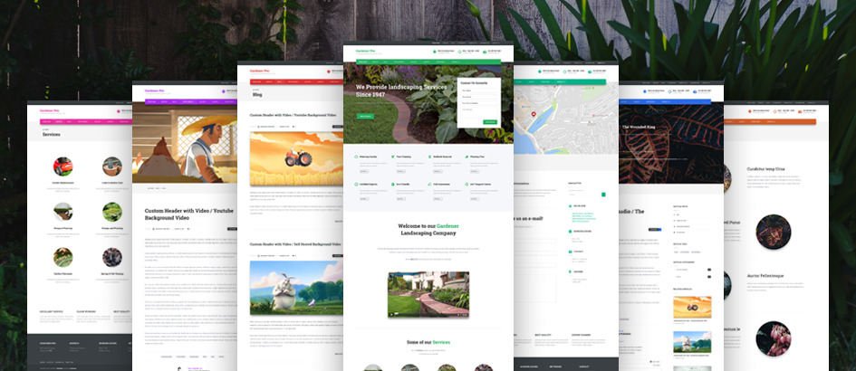 Gardener - Premium WordPress Theme Small Business Solution